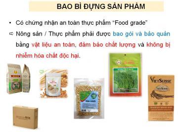 Quy định về nhãn mác hàng hóa đối với sản phẩm hữu cơ